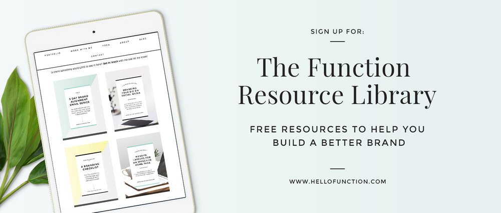 function brand and business free resources