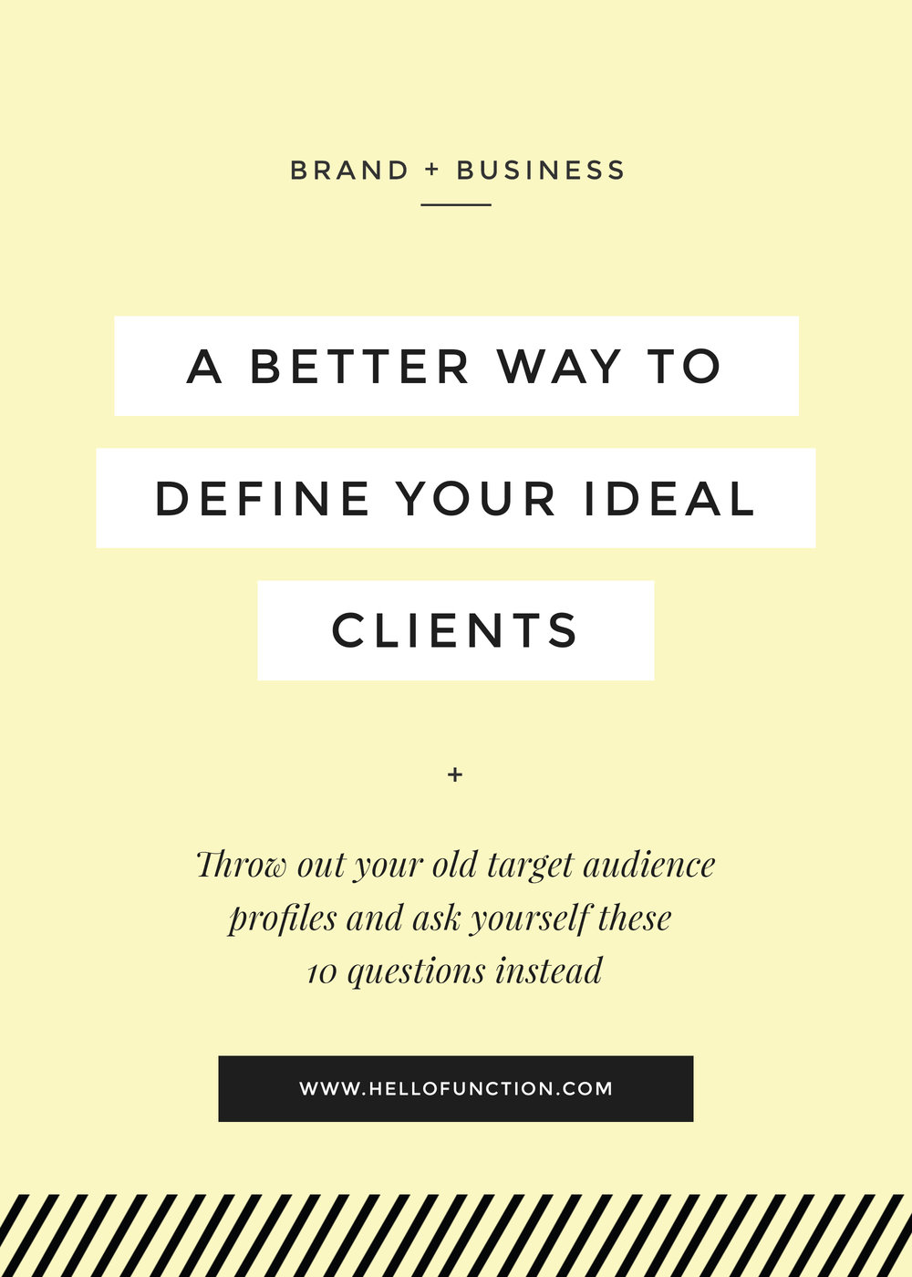 a better way to find your ideal clients or customers