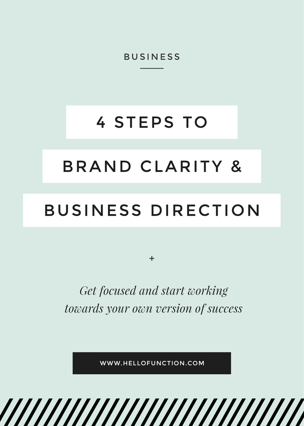 entrepreneur get focused brand clarity and business direction
