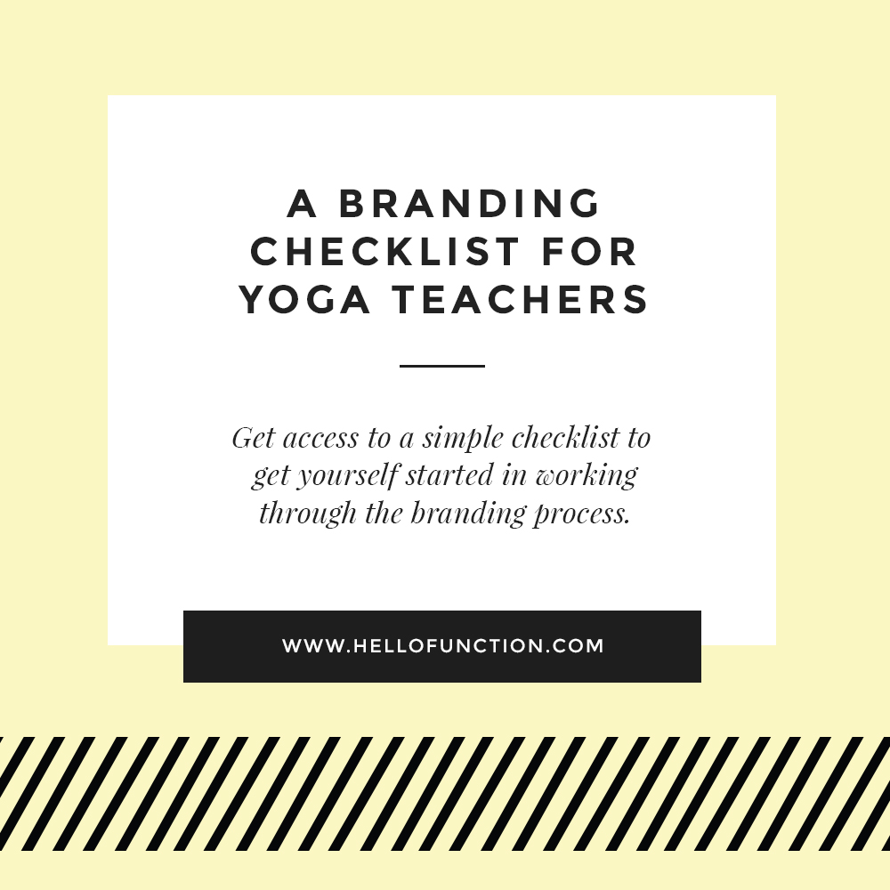 your yoga brand branding checklist for yoga teachers