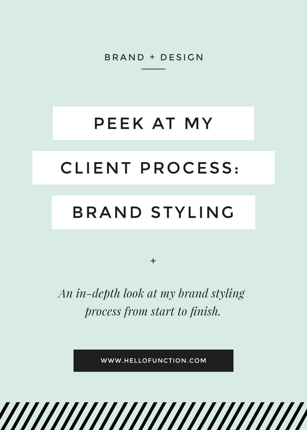 client design process brand styling function creative co