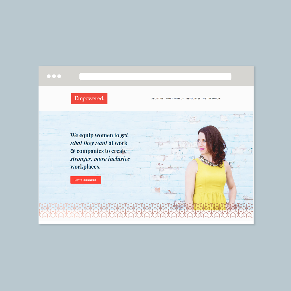 empowered coaching and consulting web design by function creative co