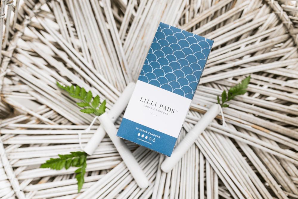 Lilli pads organic hygiene brand design, packaging design and website design