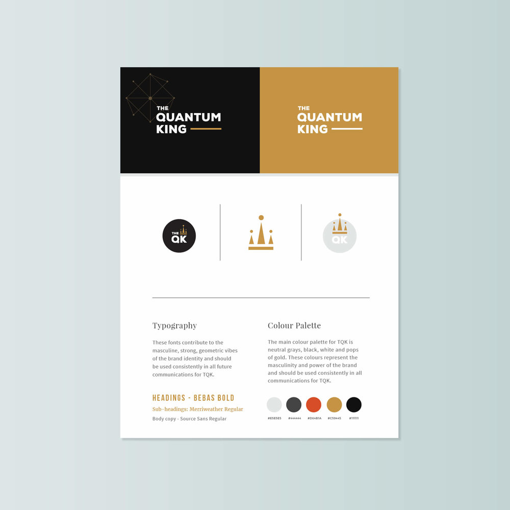 Here's an example of a simple brand style sheet to keep your brand consistent and concise.