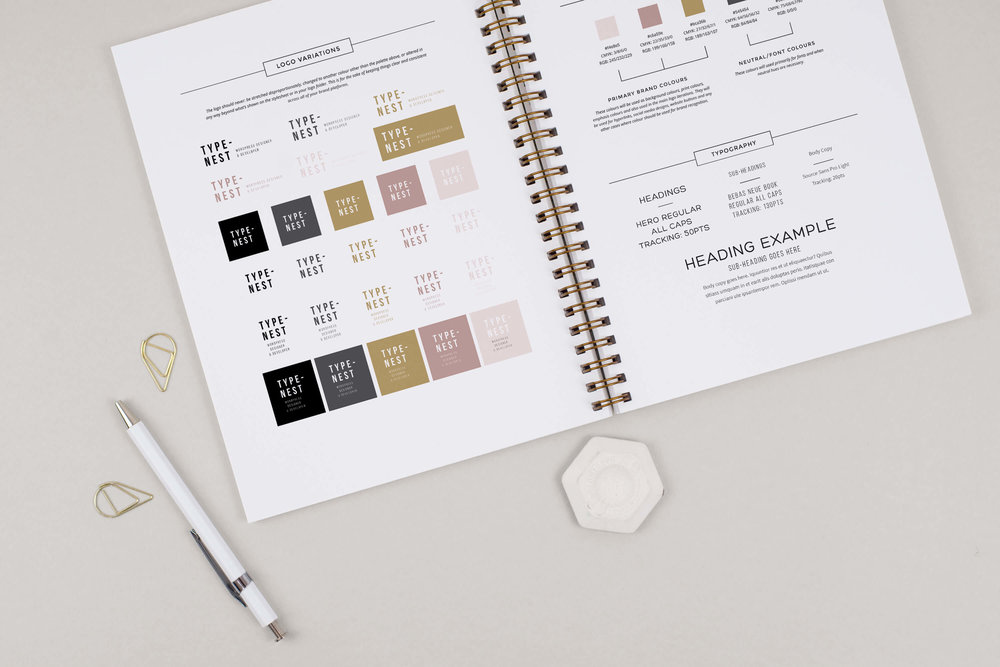 brand styling client process by Function Creative Co.