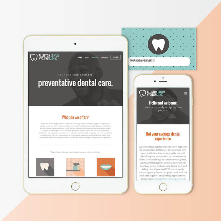 dental brand design by Function Creative Co.