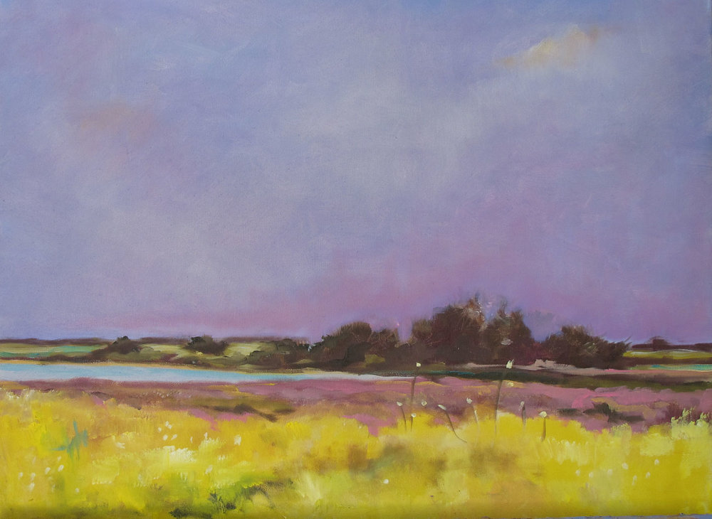 FIELD AT DUSK - SOLD