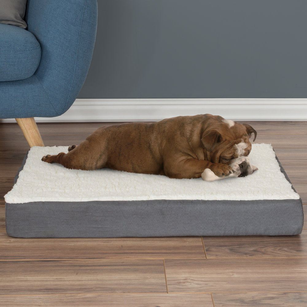 Sherpa Top Memory Foam Bed