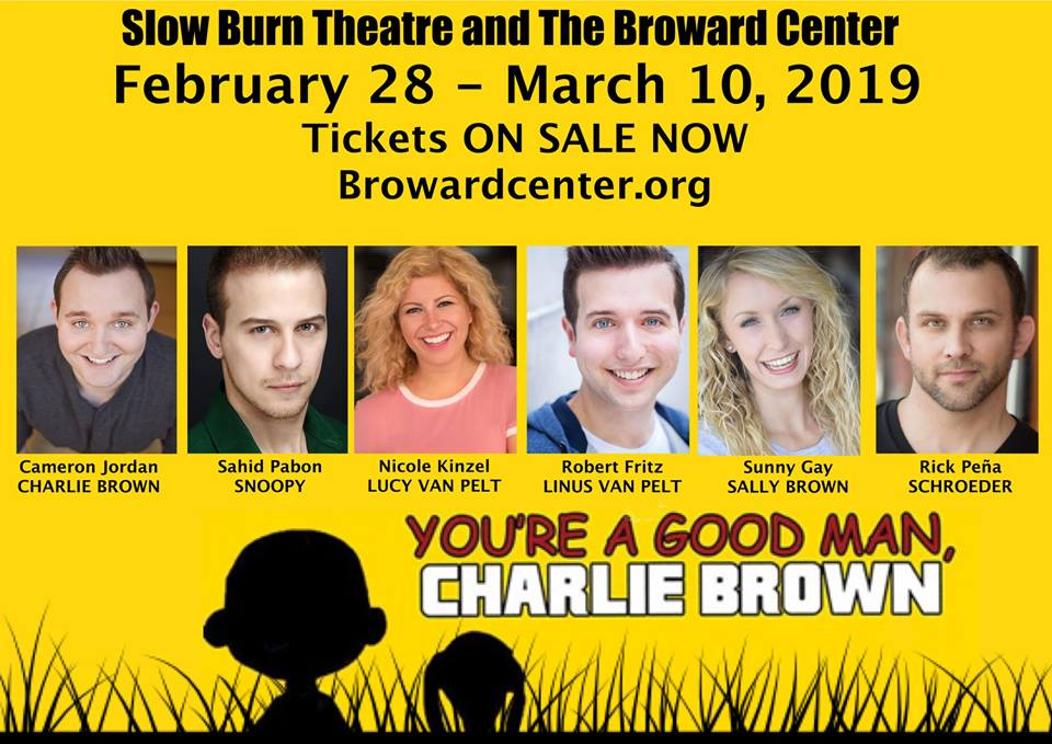 NEXT SPRING! - I will be portraying one of my favorite comic strips characters... Charlie Brown! I did this show in high school and I'm so excited to revisit it now as an adult!For more info. visit Browardcenter.org