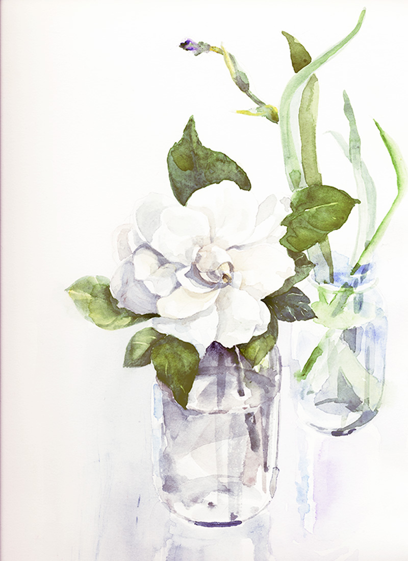 Gardenia - painted in Waimea, Hawaii