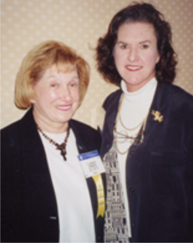 Florence Denmark, Psi Chi President, 1978-81, and Kay Wilson, Psi Chi Executive Director, 1991-2003