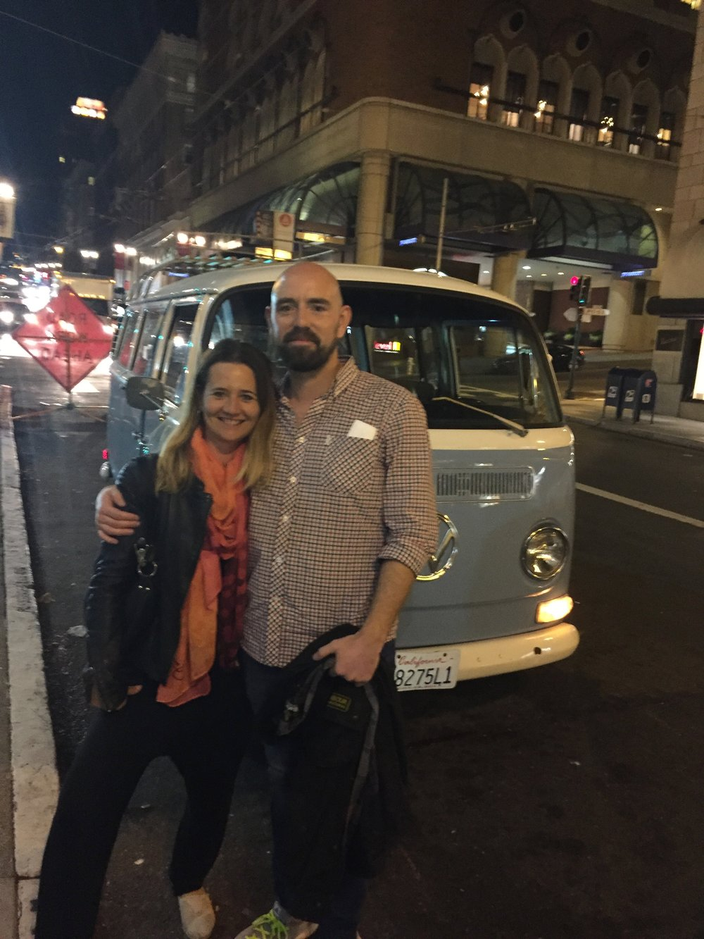 Inspiration for Brit und Christian on their first tour in San Francisco, 2015