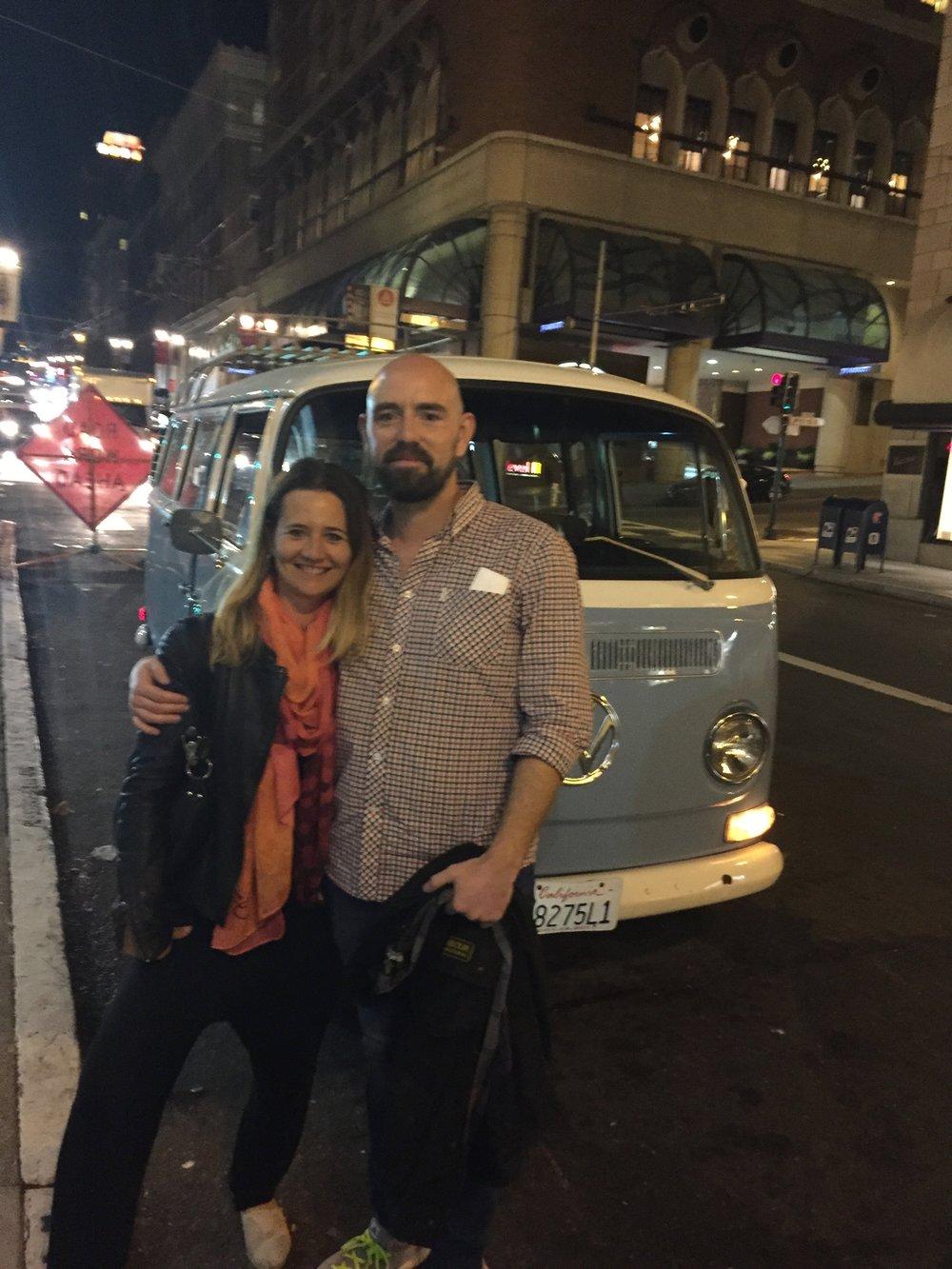 Inspiration für Brit und Christian bei Ihrer ersten Tour in San Francisco, 2015