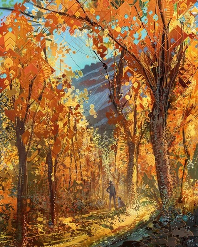 """Heart Fall"" Android Jones.  #androidjones #fall #autumn #aspen #colorado #puregold"