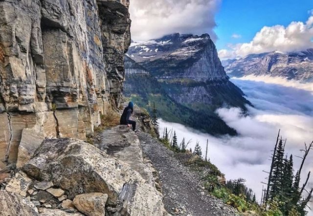 Photo by Megan Hernbroth @mmbroth. #glacier #glaciernationalpark #highline #highlinetrail #montana #visitmontana #montanamoment #nationalpark #nationalparkgeek #radparks #findyourpark #saveourparks #hiking #hikingadventures #womenwhohike #womenwhoexplore #leavenotrace #outdoorwomen #alpinebabes #mountainviews #abovetheclouds #cloud9 #nature #naturephotography #landscape #landscapephotography