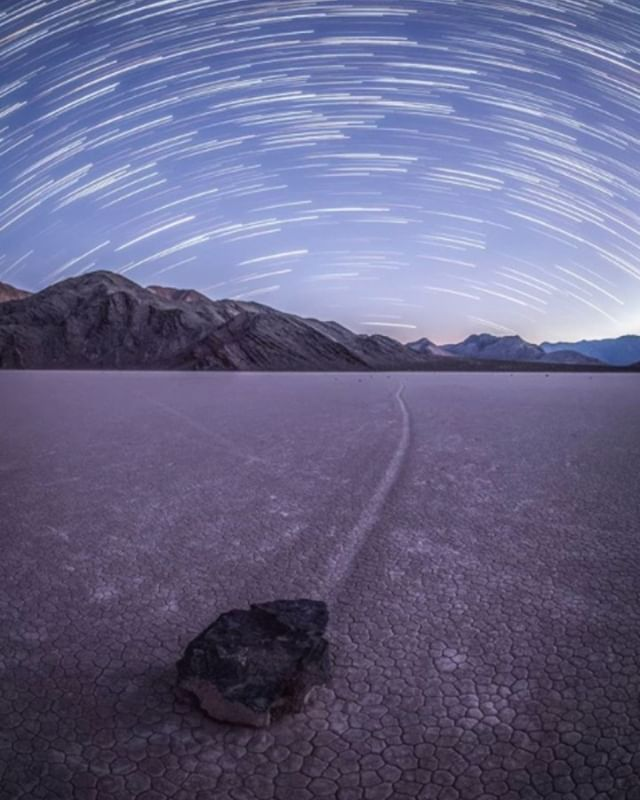 Photo by @hasmonaut.  The Sailing Stones of Death Valley in combination with some moving stars in a southerly direction #deathvalleynps #deathvalleylove #HikeDeathValley #VisitTheUSA #OutdoorsUSA #RoadTripUSA #RadParks #YourShotPhotographer #viewbug #justgoshoot #TeamTokina #liveforthestory #formatthitech #canondeutschland #peoplescreatives #exploretocreate #passionpassport #livefolk #lifeofadventure #BestVacations #worldtravelbook #adventurenthusiasts #AmongTheWild #thewanderco #weroamgermany
