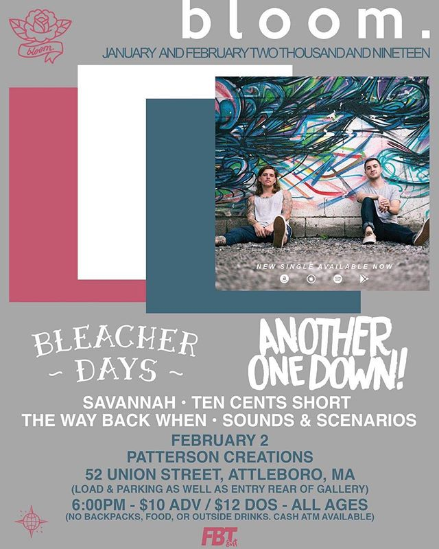 JUST ANNOUNCED!!! First show of the New Year! 2/2 @ Patterson's with TONS of homies! #tencentsshort #poppunk #warpedtour #bloom #fbtfam #livemusic #massachusetts
