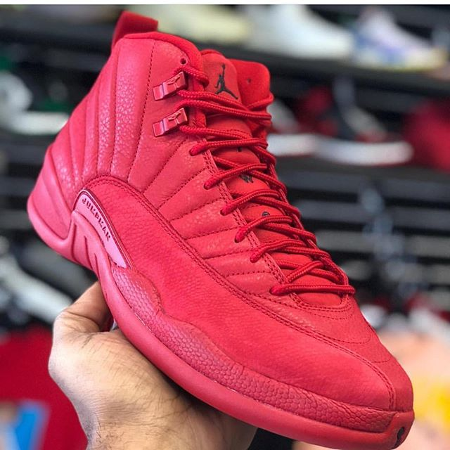 Our guy @laced.nj already got that fire 1 month early. Get to the store ASAP on Wednesday to cop your pair while available. These red October 12s tho 🔥 Whose grabbin these?! 🧐