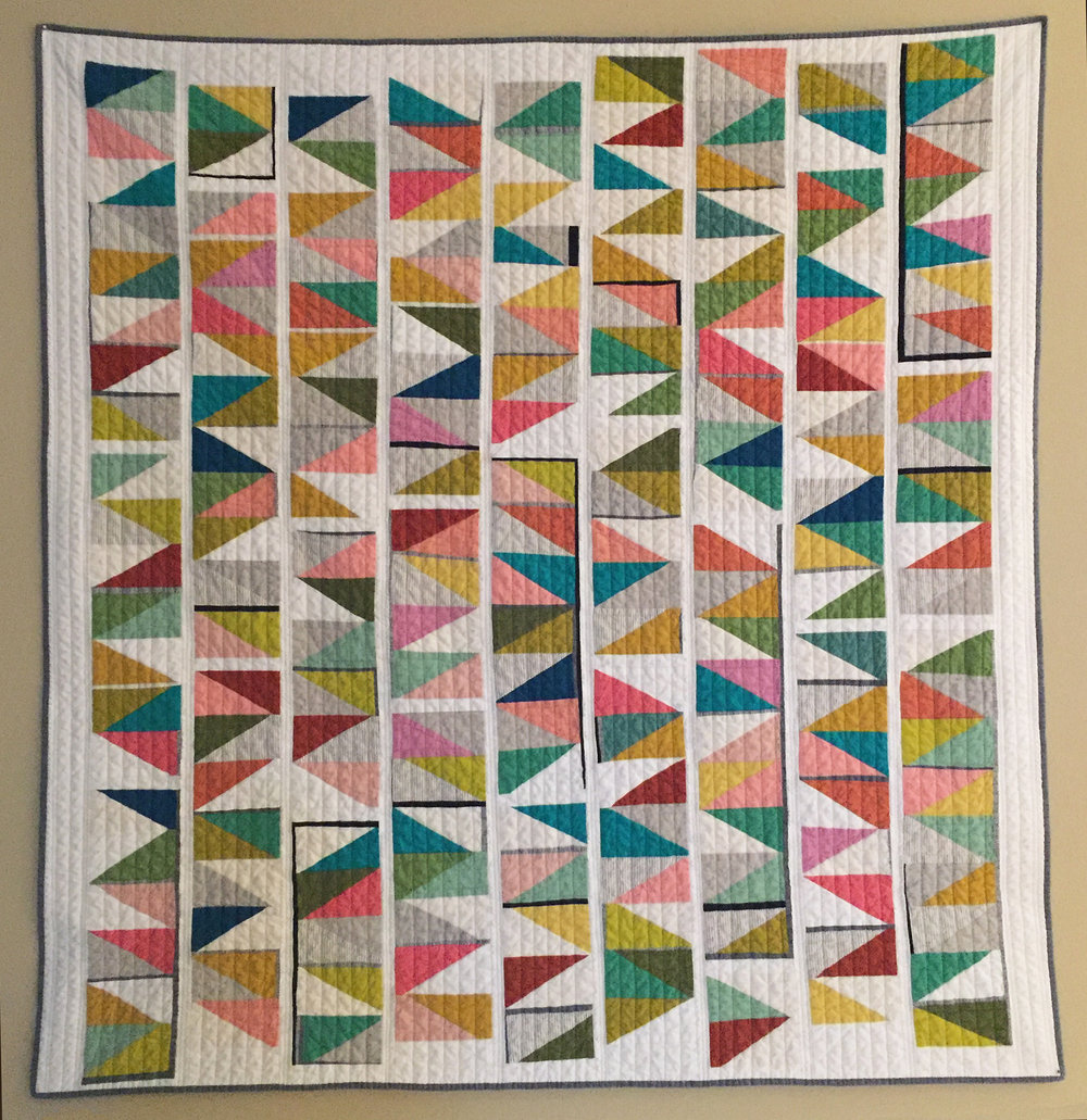 "3rd   Place: Loon Lake Love  56"" x 59"" Pieced by Krista Fleckenstein Individual member, Anchorage, AK Quilted by Katey Neher"