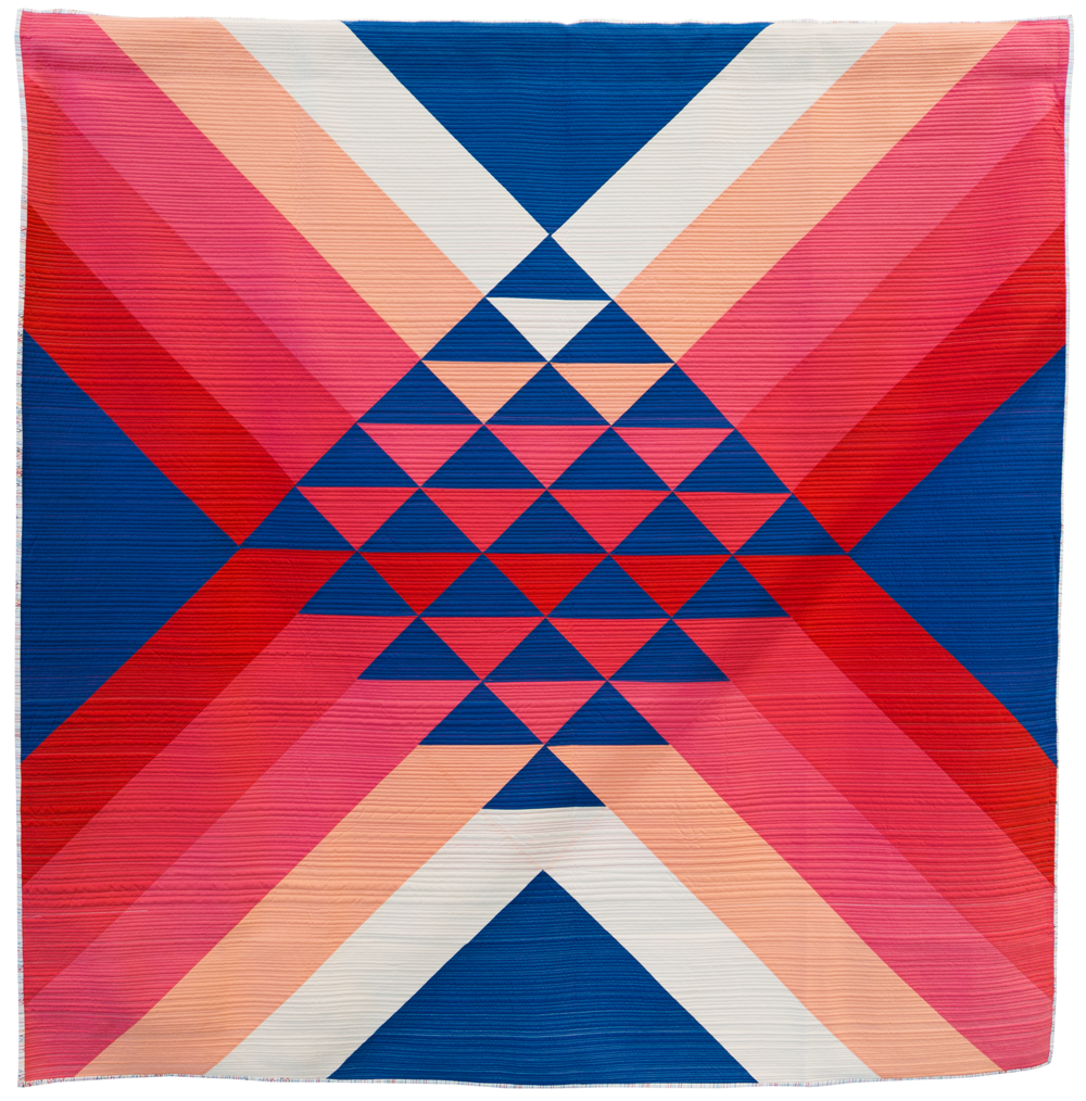 """Go North  69"""" x 70"""" Pieced and quilted by Maritza Soto Cambridge, MA, United States Cambridge Modern Quilt Guild"""