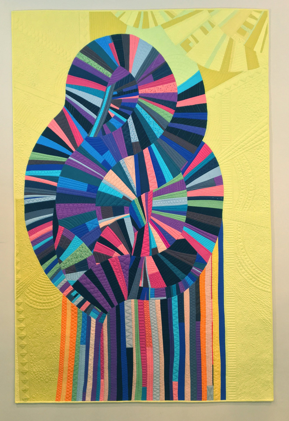 """Madonna  49.5"""" x 75.5"""" Pieced by Brittany Bowen Burton Quilted by Natalia Bonner Millcreek, UT, United States Individual MQG Member"""