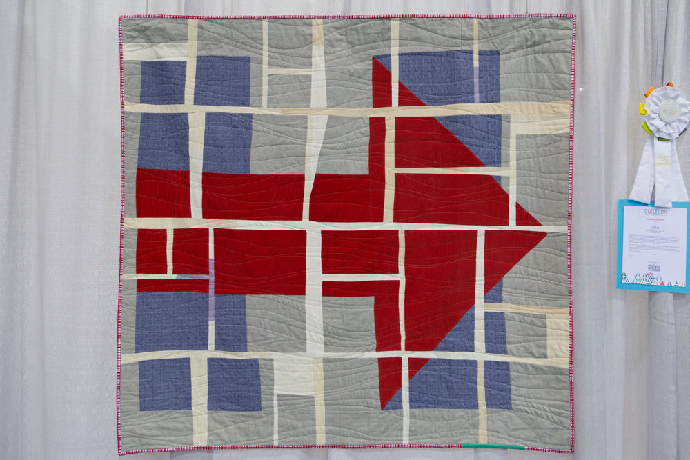 """Still With Her  60"""" x 55"""" Pieced and quilted by Liz Harvatine Burbank, CA, United States Los Angeles Modern Quilt Guild"""