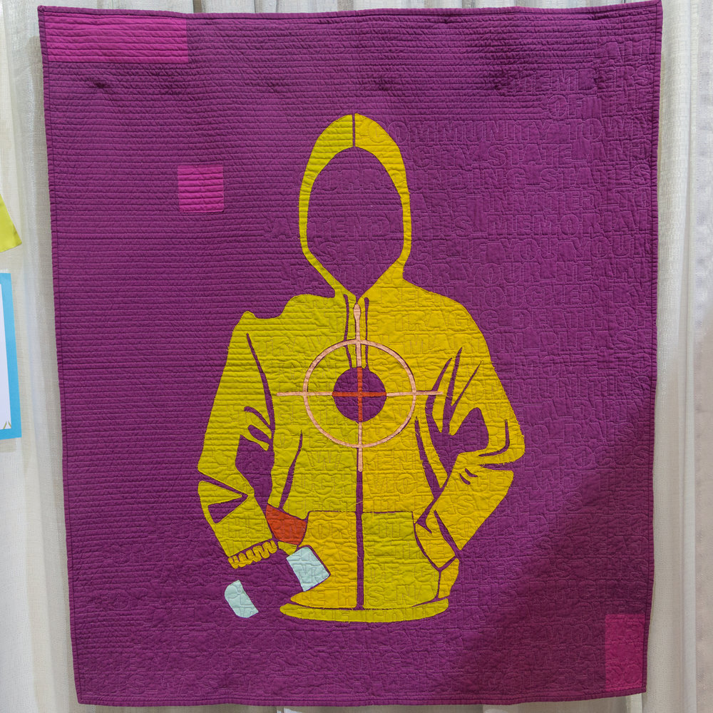 """2nd Place: Tea and Skittles  40"""" x 48"""" Pieced and quilted by Thomas Knauer Utica, NY, United States Individual MQG Member"""