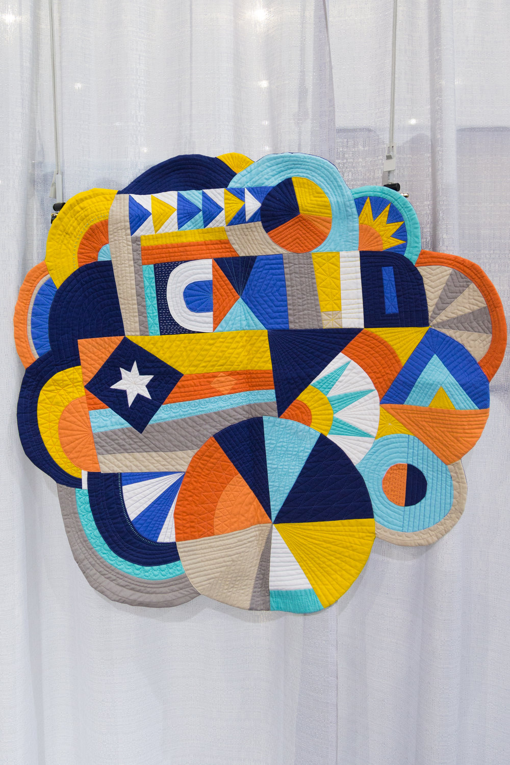 """1st Place: Whatever  32"""" x 31"""" Pieced and quilted by Katie Larson Kansas City, Kansas, United States Kansas City Modern Quilt Guild"""