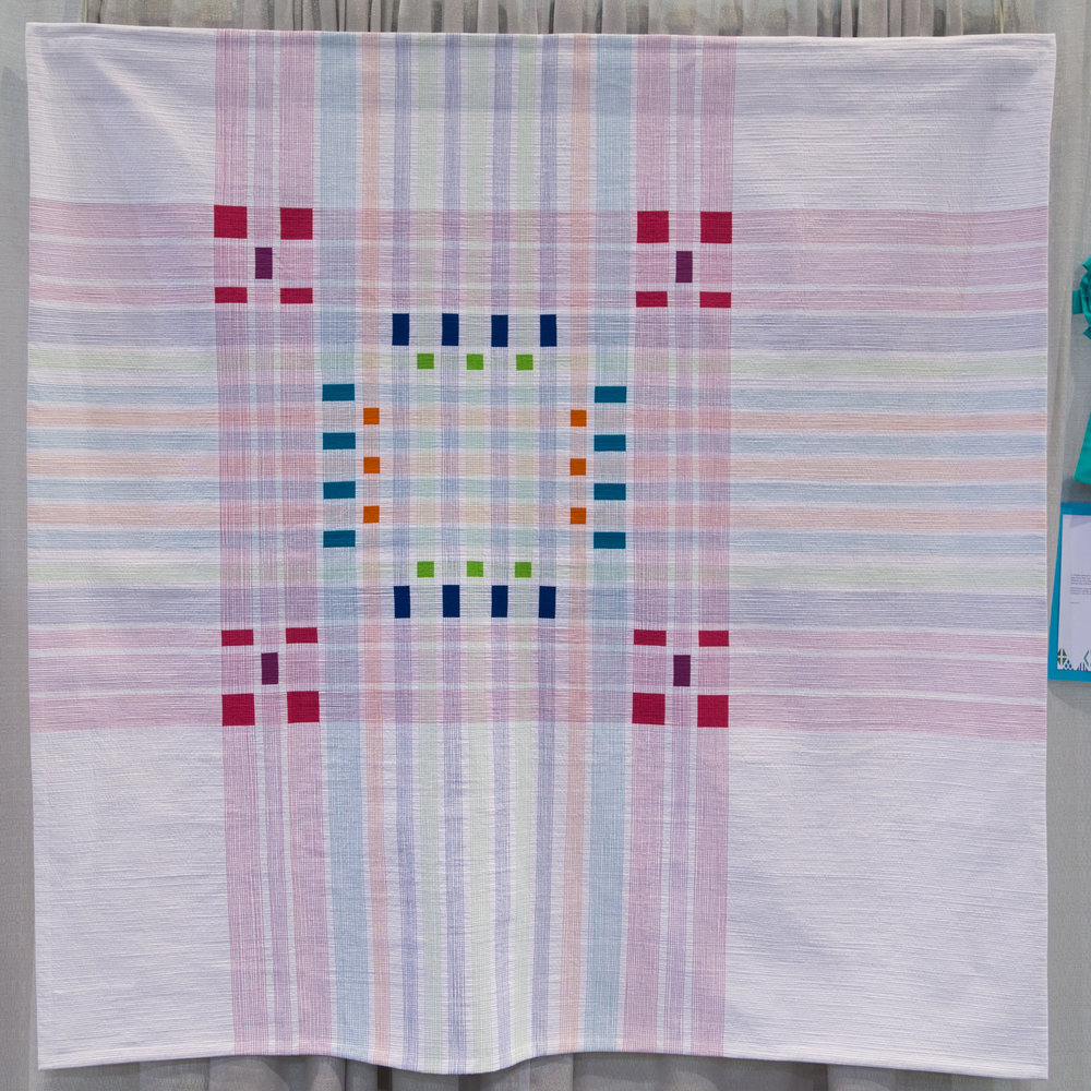 """1st Place: Infused Plaid  61"""" x 61"""" Pieced and quilted by Cassandra Beaver Urbana, OH, United States Central Ohio Modern Quilt Guild"""