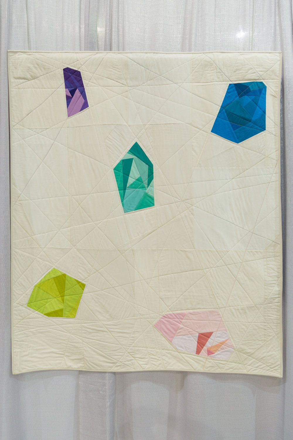 """1st Place: Gemstones  45"""" x 53"""" Pieced and quilted by Lilianna Kehnle Monroe, New York, United States  Individual MQG Member"""