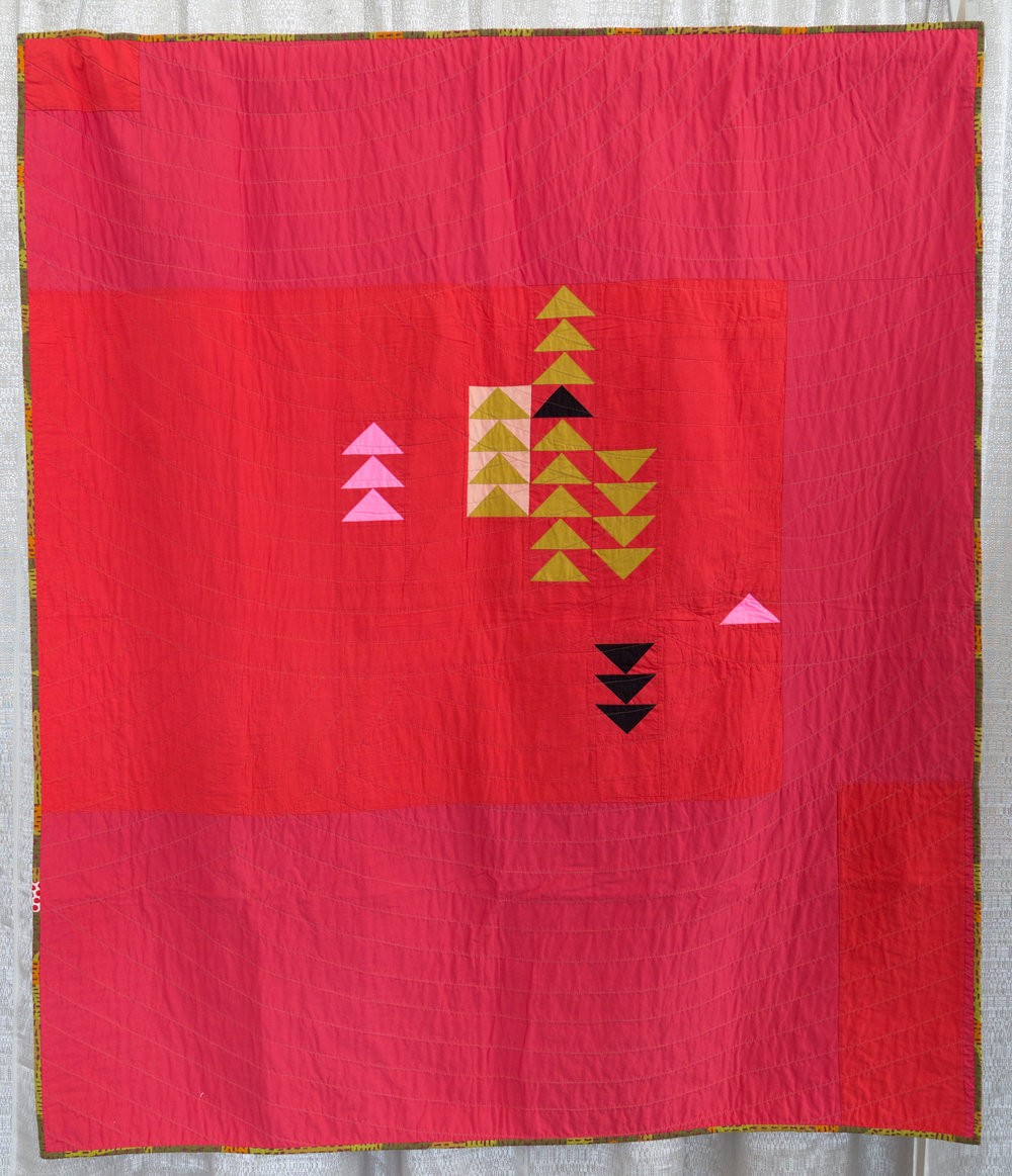 """Red Hot  55"""" x 66"""" Pieced & quilted by Shawna Doering Individual Member"""