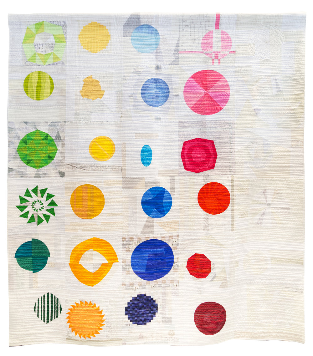 """3rd Place: Twisted Sisters Quilt  78"""" x 88"""" Pieced by Stephanie Ruyle, Christine Perrigo, Wendy Bermingham, Amy Wade, Chelsea Camalick, Sheri Nichols, Michelle Davis, Wendy Roth, Teri Ladtkow, Susan Santisteven, Charlayne Dunn, Shelby Skumanich, Andrea Berryhill, Teresa Barbagallo, Lauren Lang, Dena Mehling, Anne deister, Katie Rapp, Carla Keahey, Marsha Loewenbery, Judy Sanclaria, Heather Ferguson) Quilted by Wendy Bermingham, Christine Perrigo Denver Metro MQG"""
