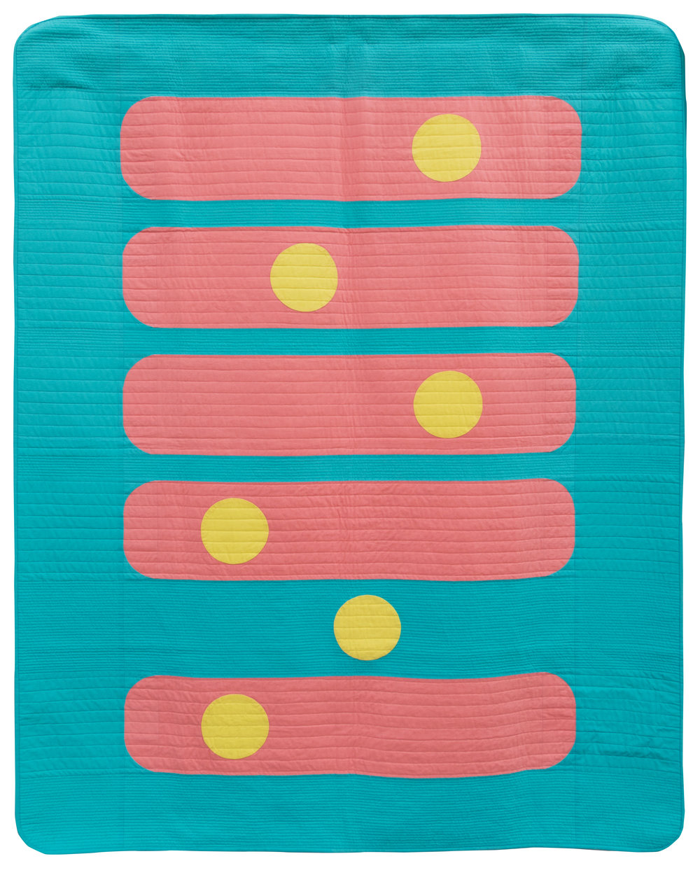 """1st Place: Bubble Gum  58"""" x 72"""" Pieced & quilted by Margaret (Kathy) Greer Bainbridge Island MQG"""