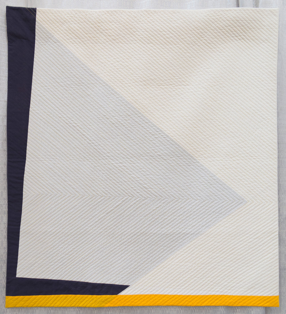 """2nd Place: Shift  37.5"""" x 41"""" Pieced & quilted by Carson Converse Northampton MQG"""