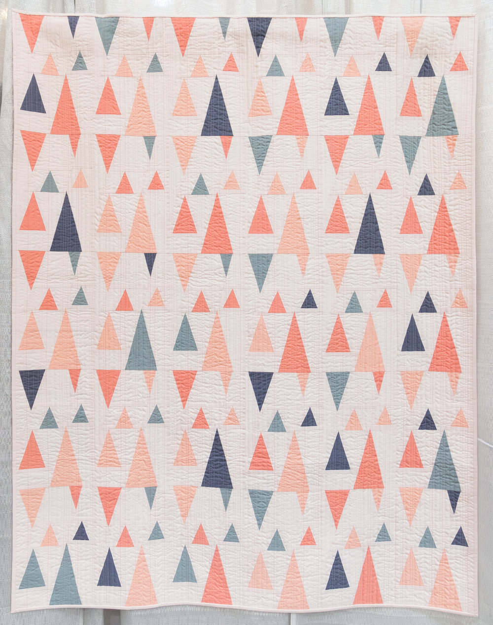 """2nd Place: Pointed Statement  48"""" x 60"""" Pieced & quilted by Amy Friend Seacoast MQG"""