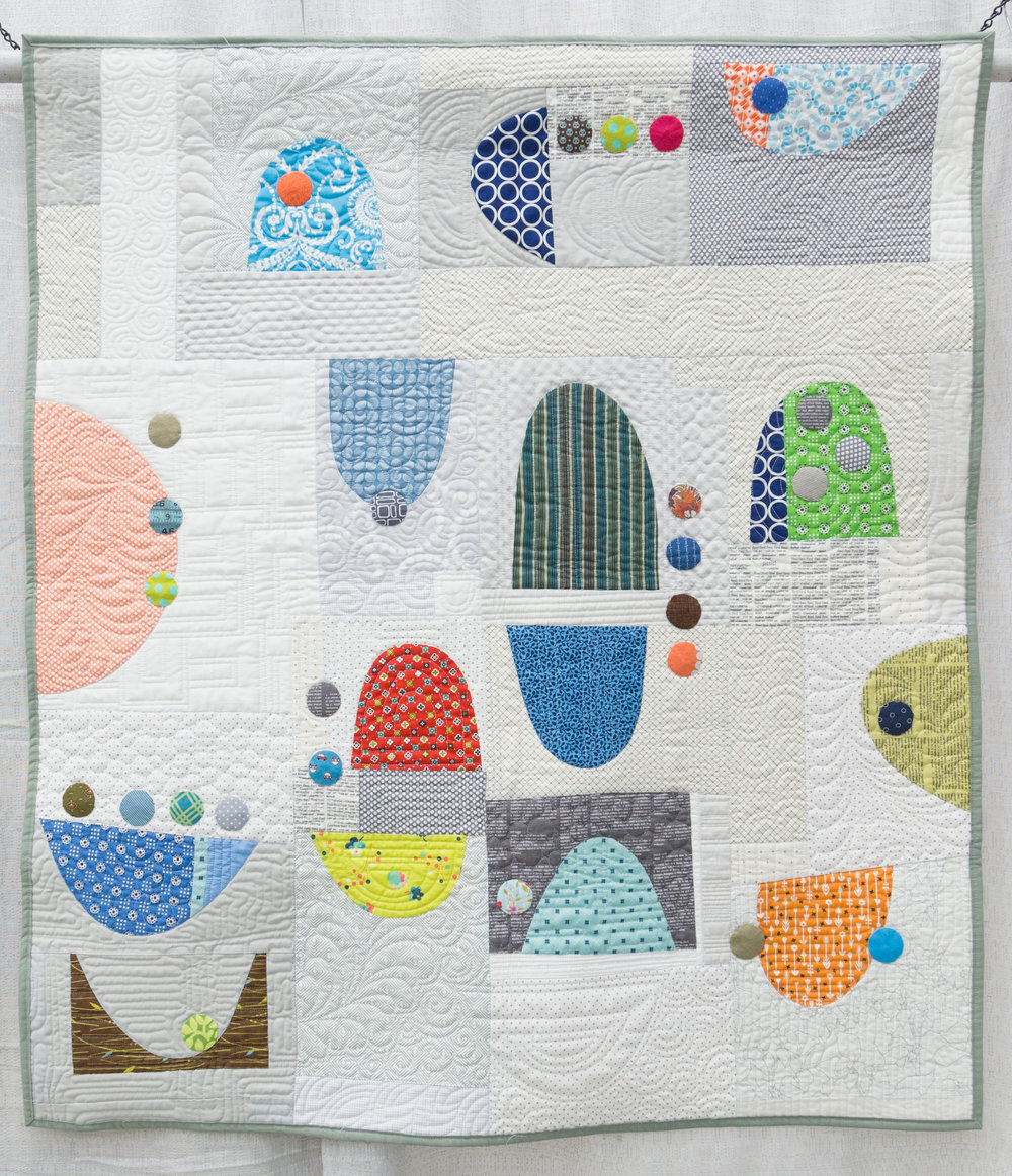 "2nd Place: The Dishes Can Wait  40"" x 43"" Pieced & Quilted by Rachel Kerley Hillsboro, Oregon Portland Oregon MQG"