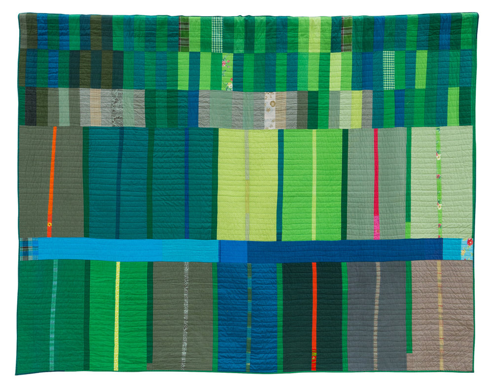 """1st Place: Fuzhou Fujian  84"""" x 65"""" Pieced & Quilted by Patricia Lutteral Martinez, Buenos Aires, Argentina Individual MQG Member"""