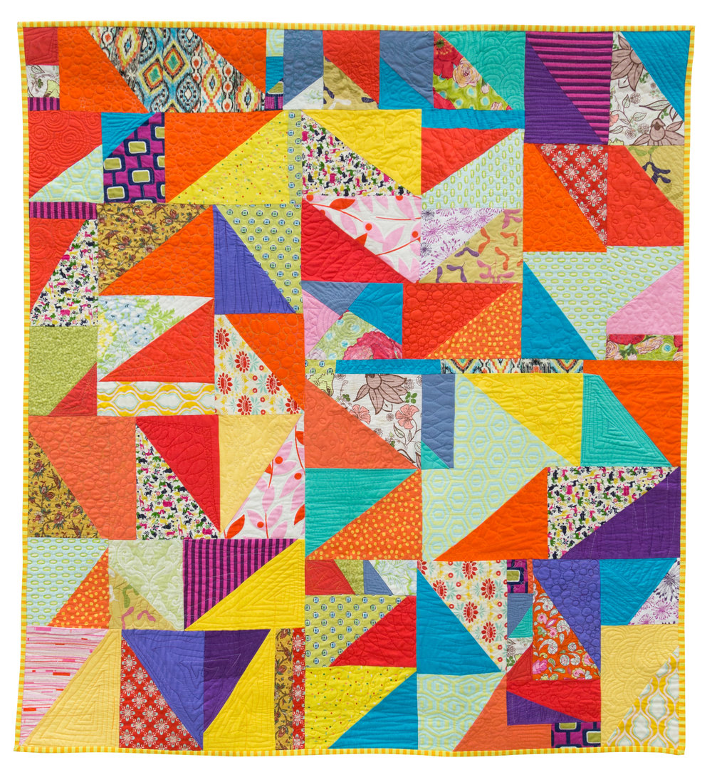 "1st Place: Rainbow Magic  46.5"" x 50"" Pieced by Mollie McMahon Quilted by Mollie McMahon & Jules McMahon Sutton, NSW, Australia Canberra MQG"