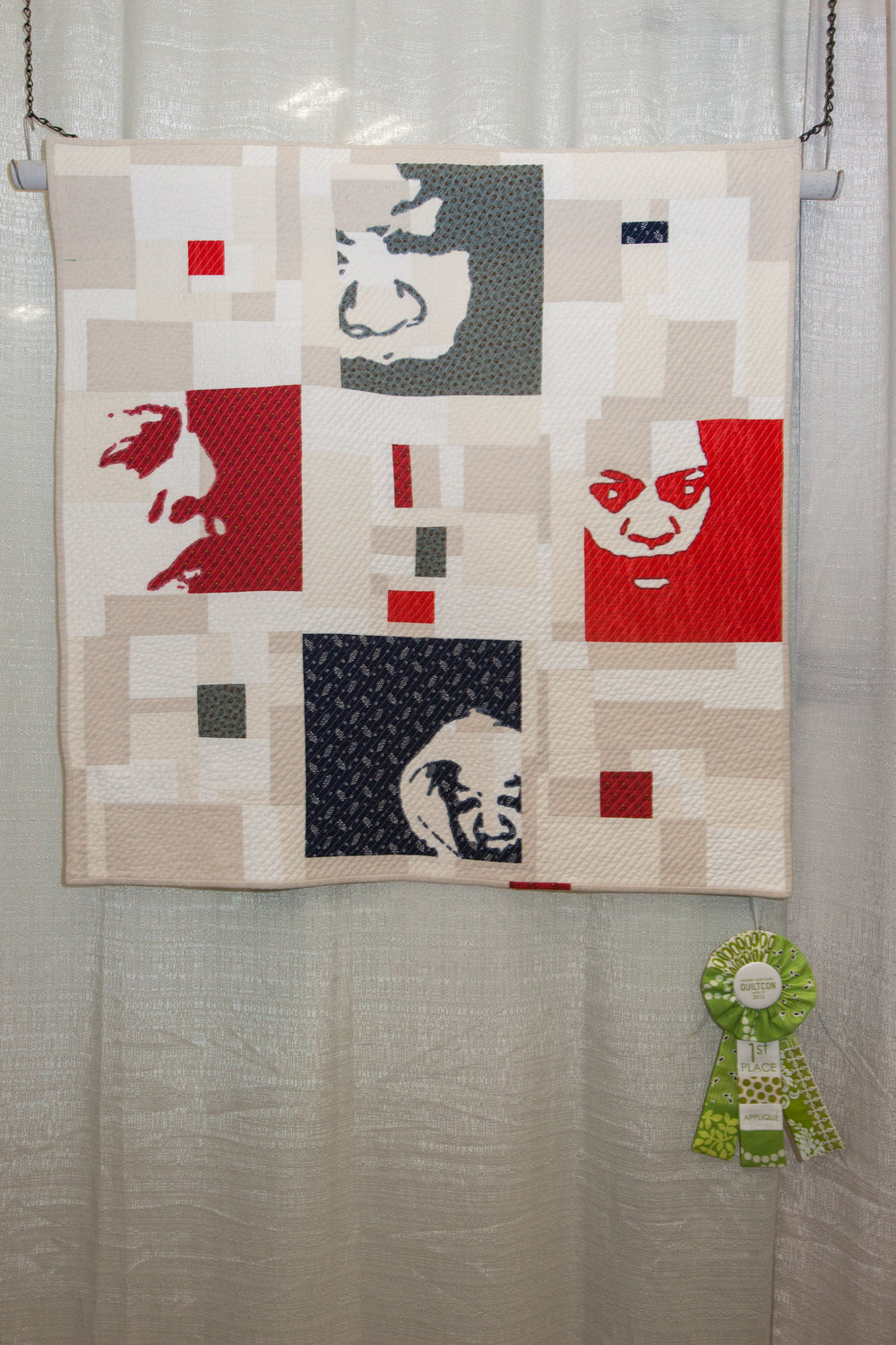 "1st Place: Self Study, 1  36"" x 36"" Pieced and Quilted by Chawne Kimber"