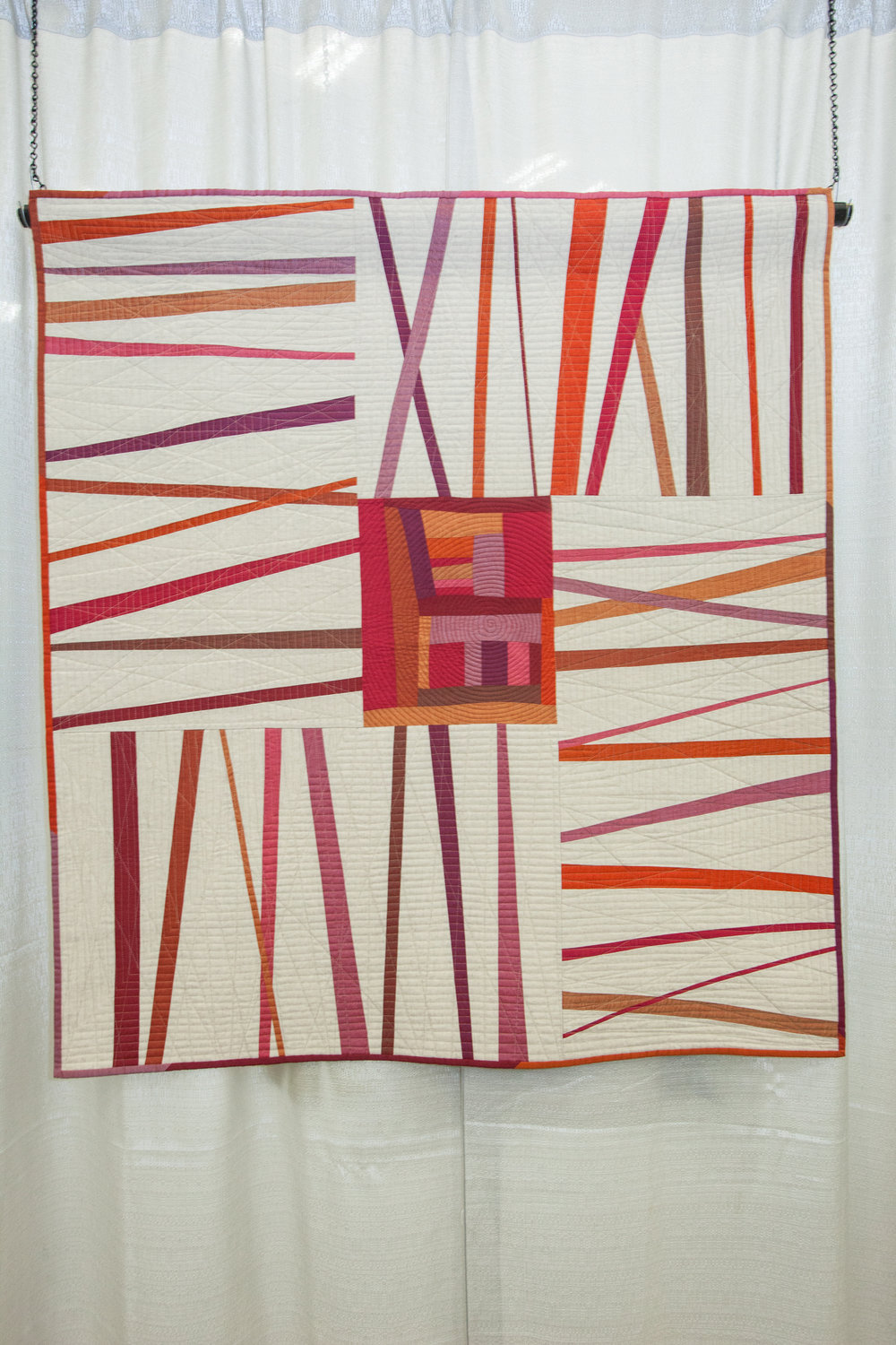 2nd Place: Unraveled  Pieced and quilted by Kati Spencer