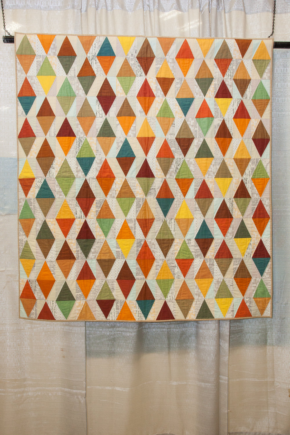 2nd Place: Autumn Jewels  Pieced and quilted by Krista Fleckenstein