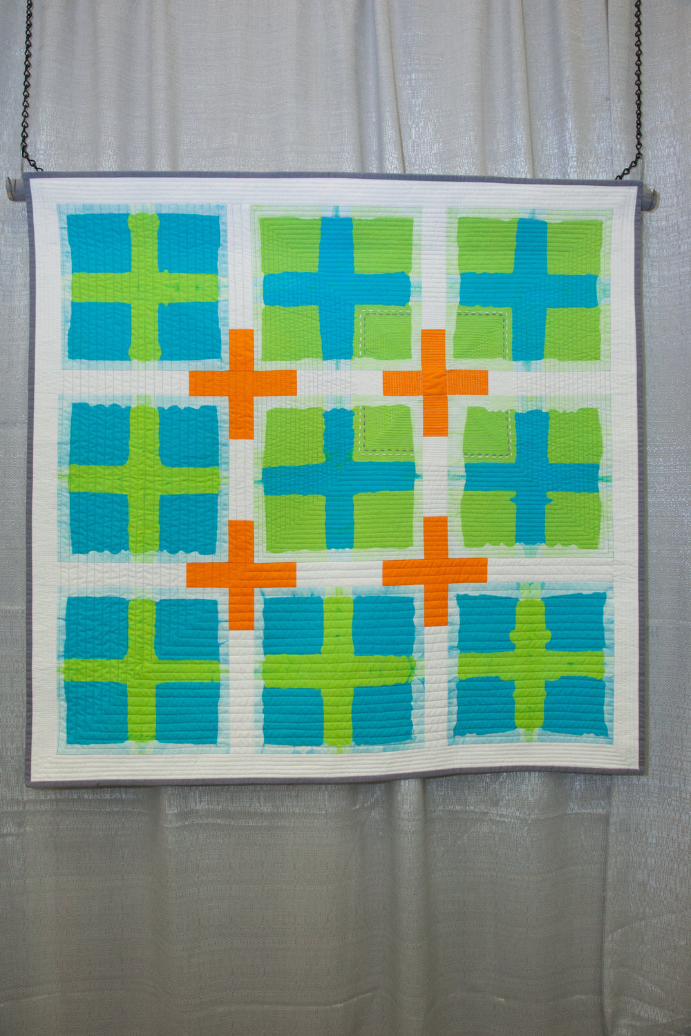 Honorable Mention: Fresh Plus  Pieced and quilted by Kathy York