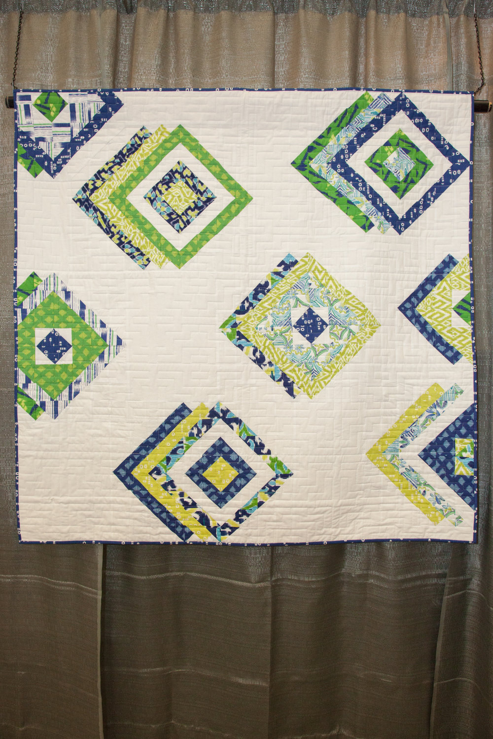 2nd Place: Not Quite a Shadow  Pieced and quilted by Susan Shore