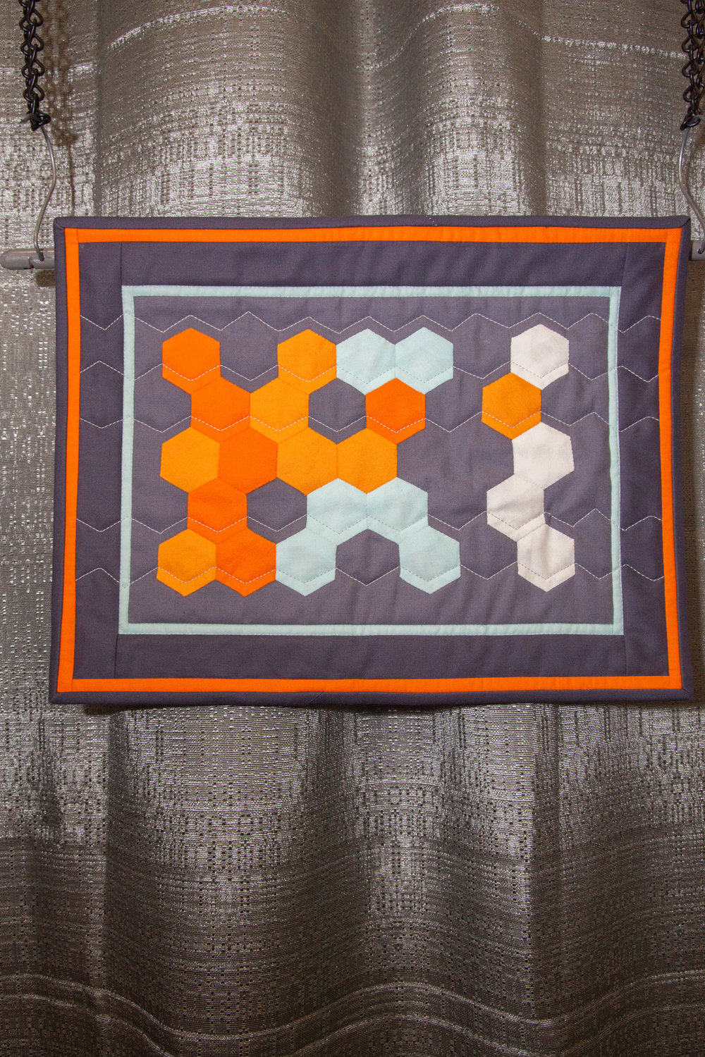 1st Place: Modern Challenge  Pieced and quilted by Catherine A. Redford