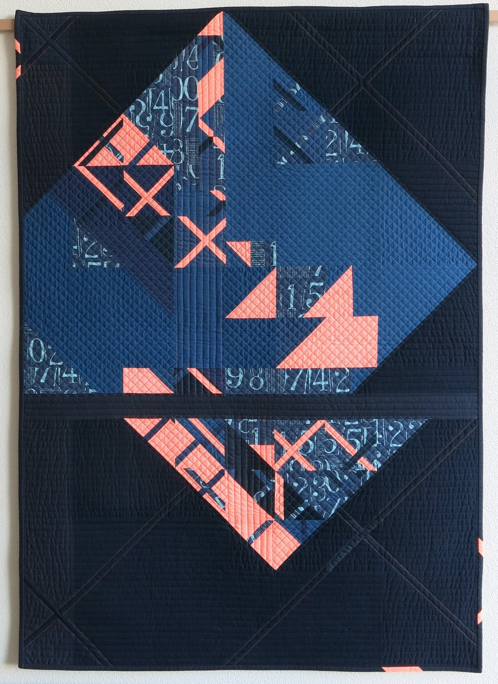 "1st Place: Eclat  35"" x 50"" By Sophie Zaugg Individual Member Le Sentier, Switzerland @lunalovequilts"