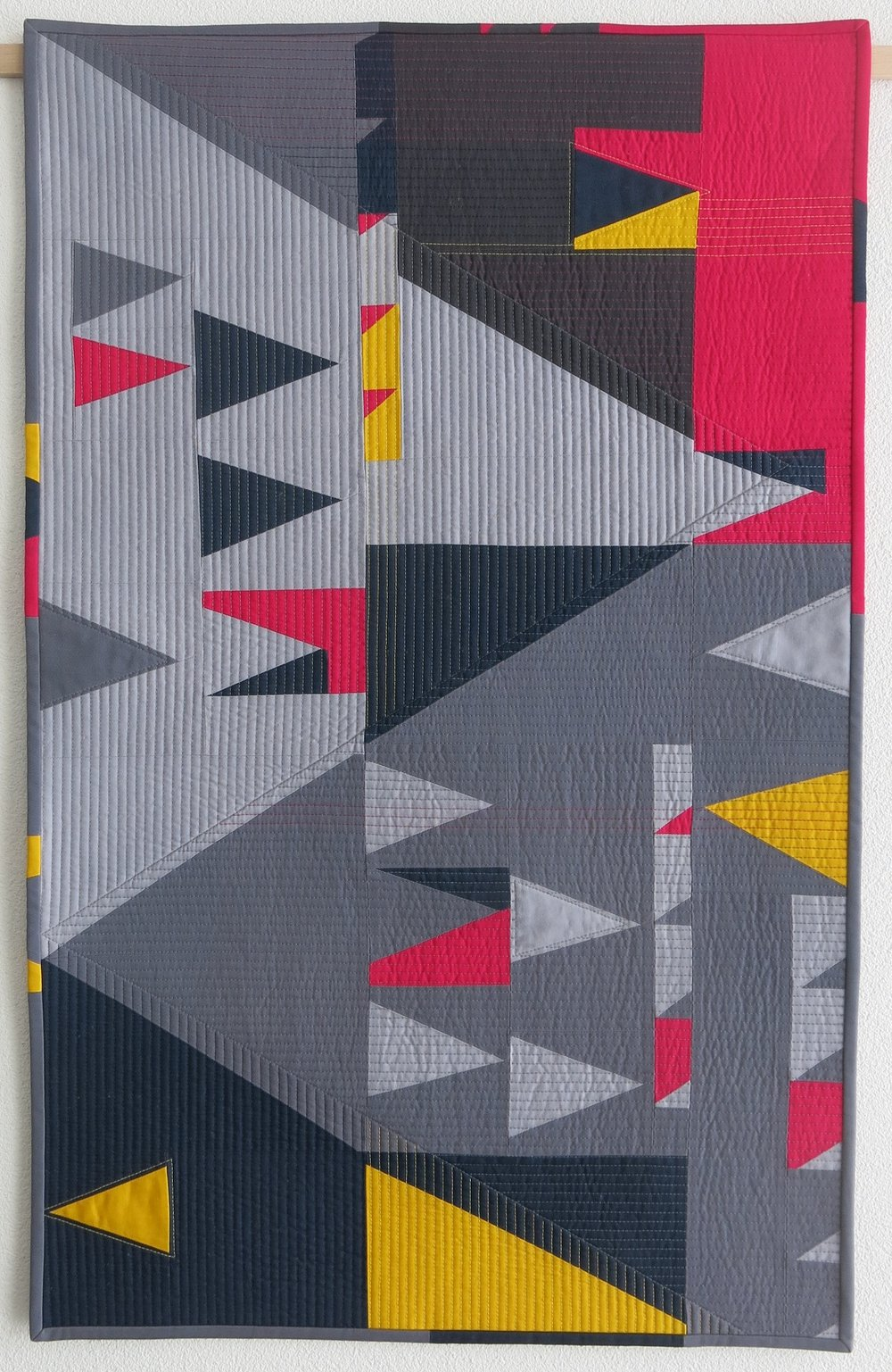 "2nd Place: Double sens  22"" x 36"" By Sophie Zaugg Individual Member Le Sentier, Switzerland @lunalovequilts"