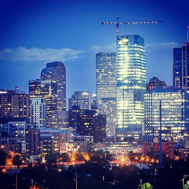 Our awesome city :) #Denver #303 #milehighcity #denvercolorado #realestate #skyline #elwoodhomes #city