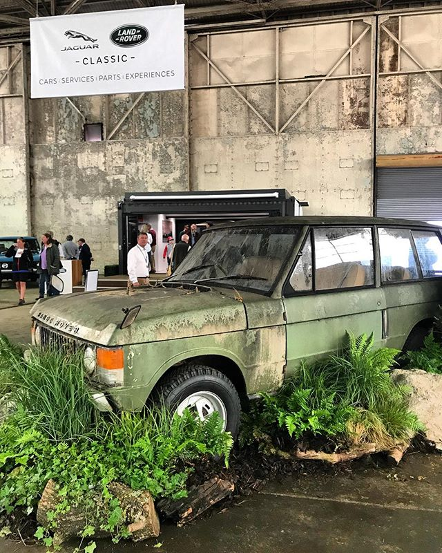 "Throwback to last weekend at ""Land Rover Legends"" and this display by Land Really get Heritage of a 1970's 2 Door pre-restoration. Stay tuned for my 2 doors coming soon!!"