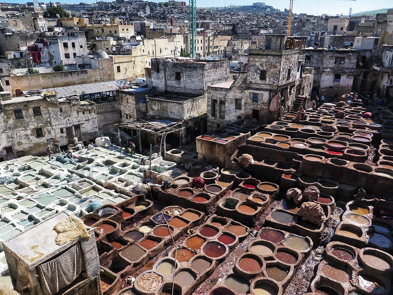 Beware of unofficial guides who will pressure you into visiting leather tanneries
