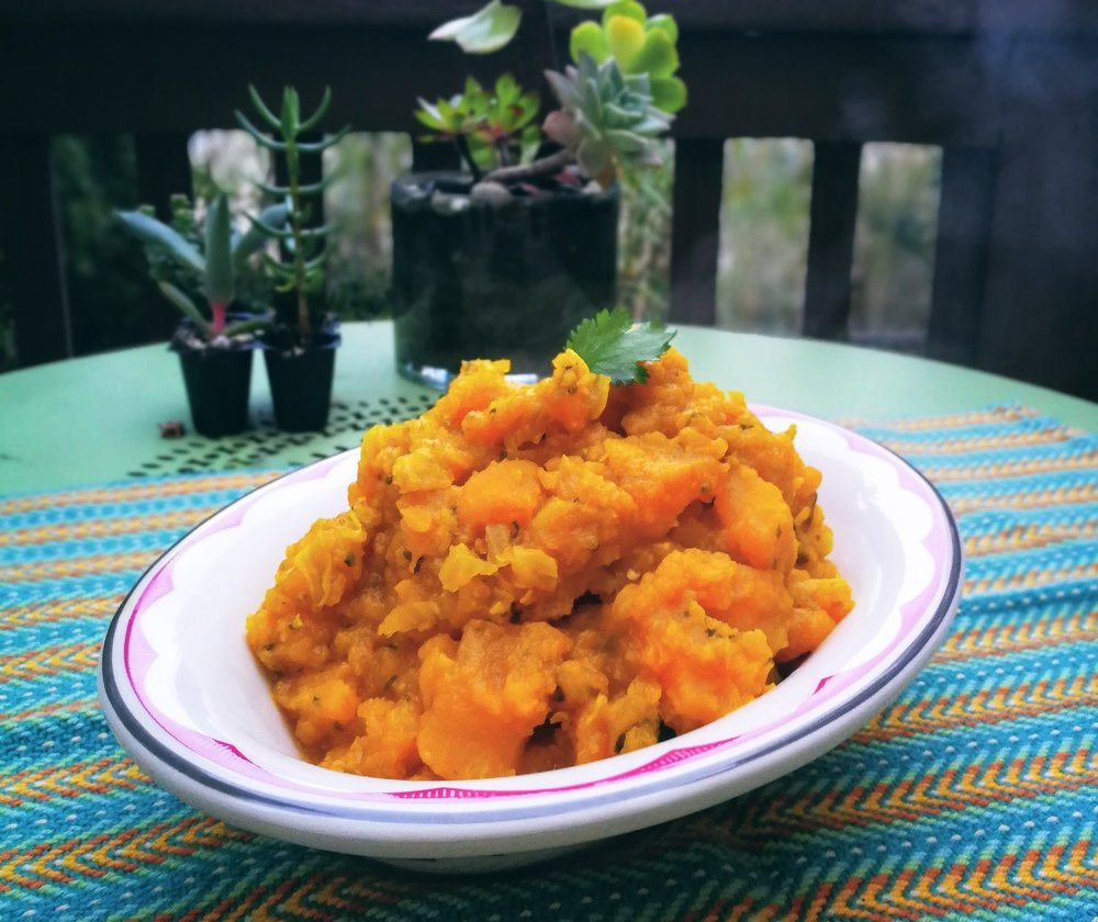 Burmese Pumpkin Curry - Click below for more of our plant-based recipes collected from around the world.